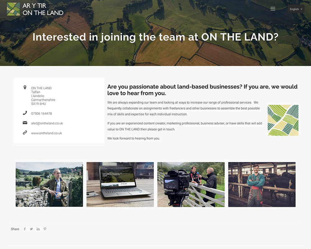 Interested in joining the team at ON THE LAND